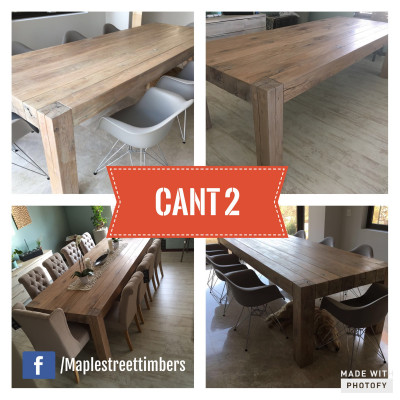 Cant Wooden Table - POA