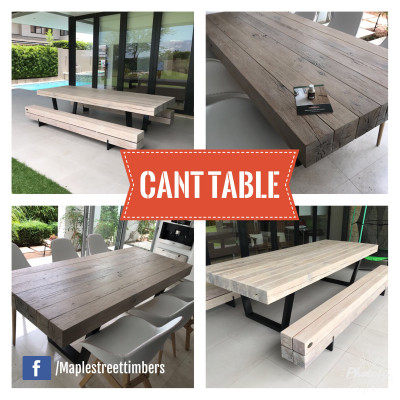 Cant Wooden Table (Steel...