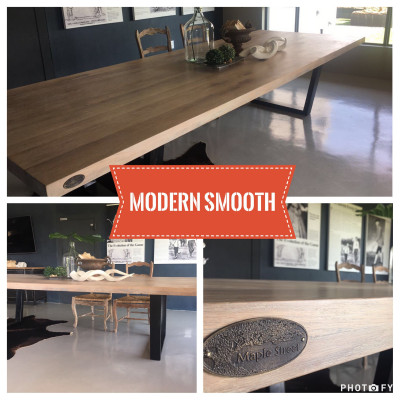 Smooth Oak Table